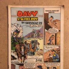 Tebeos: DAVE Y SU FIEL ROY N° 332 UN SERVICIOSE URGENCIA (EDICIONES OLIVE Y HONTORIA 1958).. Lote 194703091