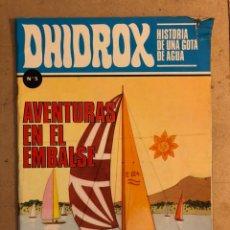 """Tebeos: DHIDROX N° 5 HISTORIA DE UNA GOTA DE AGUA """"AVENTURAS EN EL EMBALSE"""". EDICIONES PEDAGÓGICAS 1981.. Lote 173429359"""