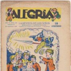 Tebeos: ALEGRÍA Nº 215. FEBRERO 1929. SIN ABRIR. Lote 174555544