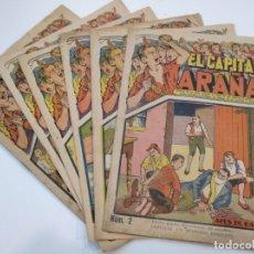 Tebeos: EL CAPITÁN ARAÑA (AÑOS 30) - 6 EJEMPLARES: NÚMEROS 2 - 14 - 15 - 16 - 17 - 20. Lote 175454998