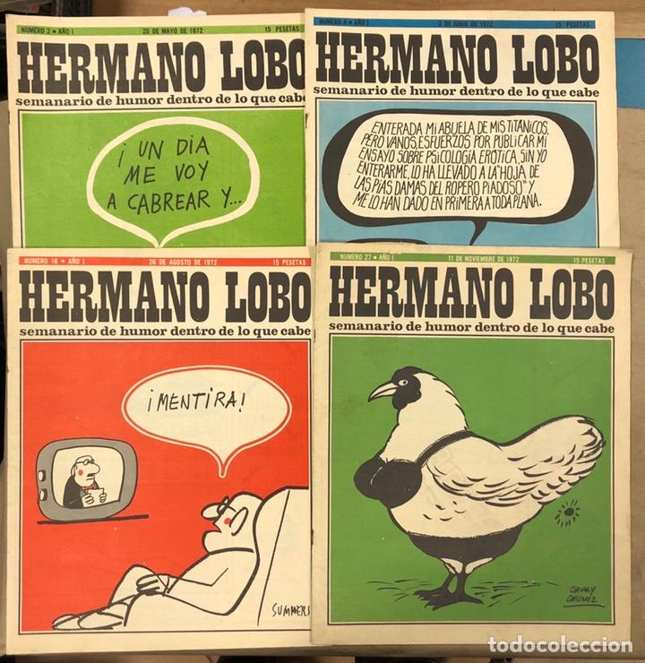 HERMANO LOBO. LOTE 4 NÚMEROS DE 1972 (2, 4, 16 Y 27). FORGUES, SUMMERS, CHUMY CHUMEZ, GILA, PERICH,. (Tebeos y Comics - Tebeos Otras Editoriales Clásicas)
