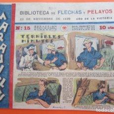 Tebeos: BIBLIOTECA DE FLECHAS Y PELAYOS , MARAVILLAS . N.15 , 23 NOVIEMBRE 1939 , ORIGINAL. Lote 177123884