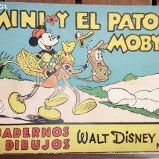 Tebeos: MINI Y EL PATO MOBY, CUADERNOS DE DIBUJO - WALT DISNEY . EDITORIAL MOLINO NUM. 9 - 20 PAGINAS NUEVO . Lote 177138178