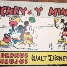 Tebeos: MICKEY Y MINI, CUADERNOS DE DIBUJO WALT DISNEY EDITORIAL MOLINO NUM. 24 MICKEY Y MINI. Lote 177138382