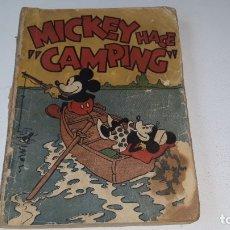 Tebeos: MICKEY HACE CAMPING - WALT DISNEY - 1ª EDICION - EDITORIAL MOLINO - AÑO 1934. Lote 177548837