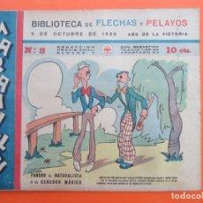 Tebeos: BIBLIOTECA DE FLECHAS Y PELAYOS , MARAVILLAS . NUMERO 8 , 5 DE OCTUBRE 1939 , ORIGINAL. Lote 178385886