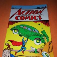 Tebeos: ACTION COMICS, NÚM. 1. EL ORIGEN DE SUPERMAN 1938. FACSÍMIL CON CERTIFICADO DE AUTENTICIDAD DE DC CO. Lote 178777671