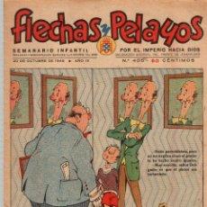 Tebeos: FLECHAS Y PELAYOS. Nº 405. 20 DE OCTUBRE DE 1946. CON RECORTABLE DE MUSEO DE ARTILLERIA, LANTACA. Lote 179386213