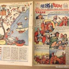 Tebeos: FLECHAS Y PELAYOS. Nº 75. 12 DE MAYO DE 1940. EN CONTRAPORTADA CASTELLON DE LA PLANA. Lote 179390943
