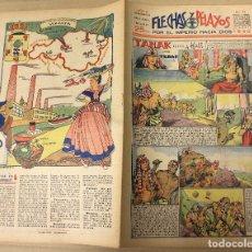 Tebeos: FLECHAS Y PELAYOS. Nº 72. 21 DE ABRIL DE 1940. EN CONTRAPORTADA VIZCAYA, PROVINCIAS VASCONGADAS. Lote 179391760