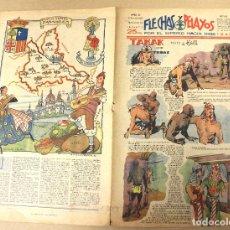 Tebeos: FLECHAS Y PELAYOS. Nº 65. 3 DE MARZO DE 1940. EN CONTRAPORTADA ZARAGOZA, REGION DE ARAGON. Lote 179398335