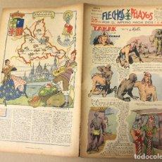 Tebeos: FLECHAS Y PELAYOS. Nº 65. 3 DE MARZO DE 1940. EN CONTRAPORTADA ZARAGOZA, REGION DE ARAGON. Lote 179398918
