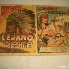 Tebeos: REPORTAJES LEJANO OESTE N . 3. COCHISE , NOBLE JEFE DE LOS APACHES. MUY DIFICIL.. Lote 180167376