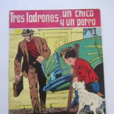 Tebeos: TRES LADRONES, UN CHICO Y UN PERRO. SERIE DISCOLOR. PUBLICACIONES SALVATELLA. LA HORA FELIZ CX23. Lote 180218608