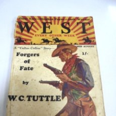 Tebeos: WEST. REINO UNIDO. Nº 8. AGOSTO 1930. FORGERS OF FATE BY W.C.TUTTLE. VER. Lote 180436796