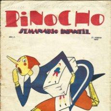 Tebeos: PINOCHO - Nº 1 - EDITORIAL CALLEJA - 1925 - AÑO I. Lote 182025418