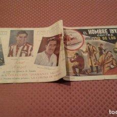 Tebeos: EL HOMBRE INVISIBLE EDICIONES RIALTO - .DIAMANTE NEGRO - CROMOS REAL MADRID AT .AVIACION . Lote 182233342