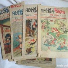 Tebeos: LOTE 33 FLECHAS Y PELAYOS AÑOS I, II Y III AÑO 1938, LISTA PUBLICADA. Lote 182513757