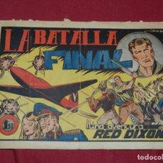 Tebeos: (M1) UNA AVENTURA DE RED DIXON - LA BATALLA FINAL NUM 1 - EDC. FANTASIO, SEÑALES DE USO. Lote 182604935