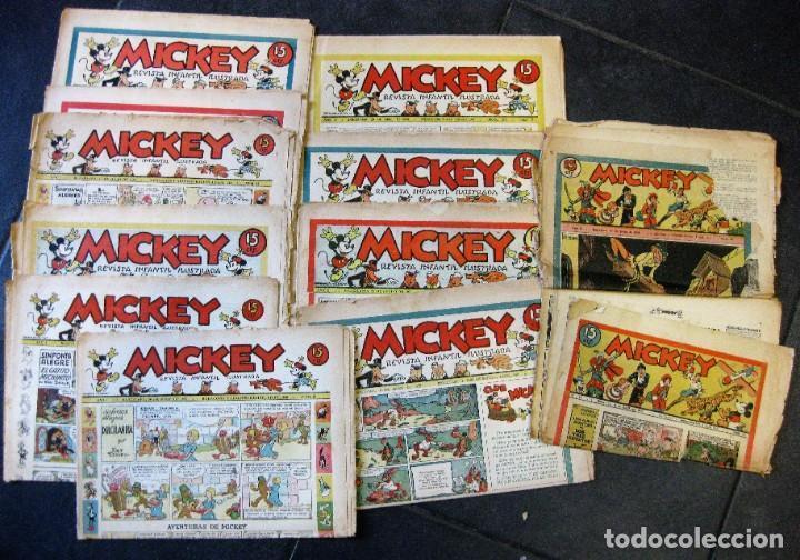 LOTE 10 REVISTAS MICKEY 1ERA EDICION . AÑO 1935 -1936 WALT DISNEY (Tebeos y Comics - Tebeos Clásicos (Hasta 1.939))