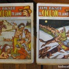 Livros de Banda Desenhada: JIM BRADE - EL CICLON TEJANO - LOTE 10 FOLLETINES. Lote 275697283