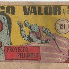 Tebeos: DIEGO VALOR ORIGINAL Nº 121 A.1954 CID-EDICOLOR DIFICIL. Lote 184414891