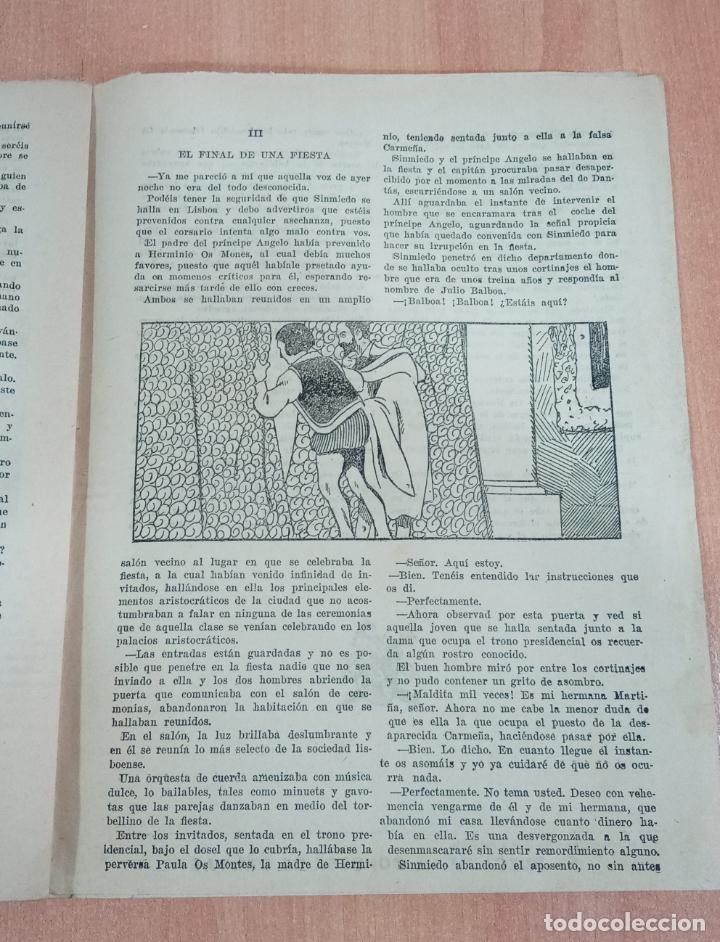 Tebeos: SINMIEDO EL DEMONIO DE LOS MARES NUMERO 27 LA FALSA CARMEÑA. EL GATO NEGRO - Foto 2 - 186234275