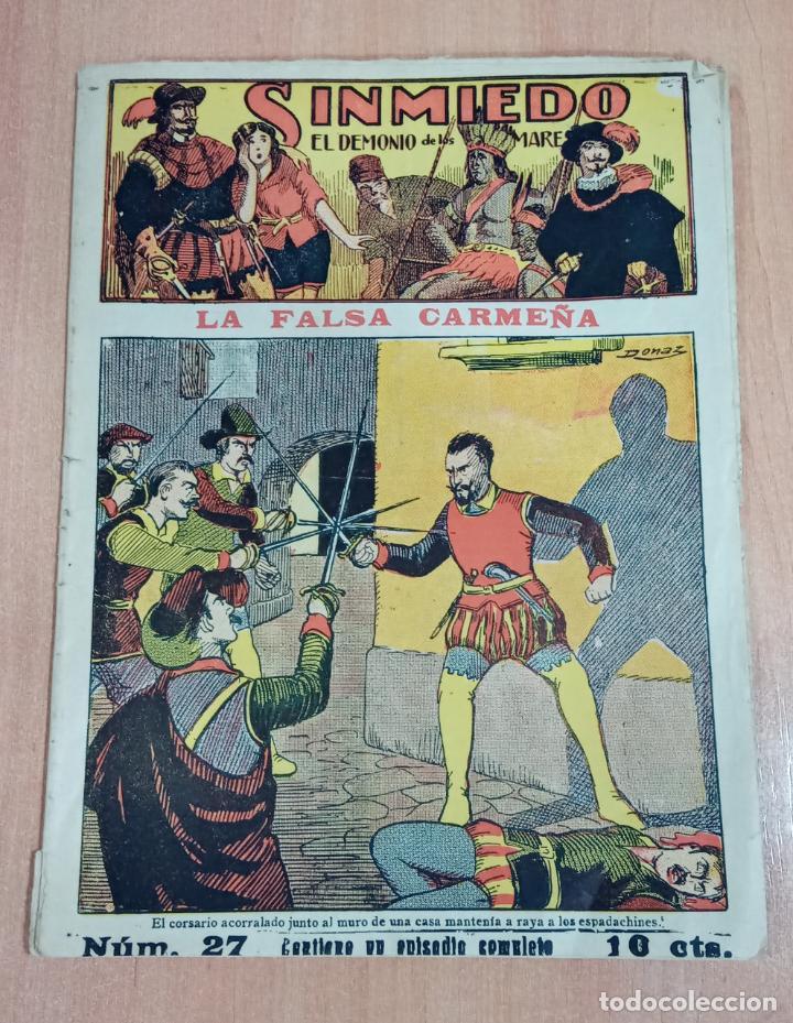 SINMIEDO EL DEMONIO DE LOS MARES NUMERO 27 LA FALSA CARMEÑA. EL GATO NEGRO (Tebeos y Comics - Tebeos Clásicos (Hasta 1.939))