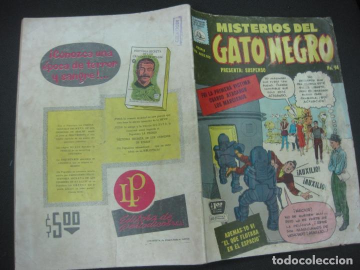 MISTERIOS DEL GATO NEGRO Nº 94. JULIO DE 1959. EDITORA DE PERIODICOS LA PRENSA MEXICO. (Tebeos y Comics - Tebeos Otras Editoriales Clásicas)