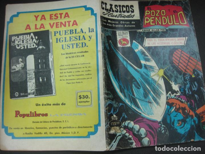 CLASICOS ILUSTRADOS Nº M-3. EL POZO Y EL PENDULO.EDGAR ALLAN POE. LA PRENSA. 1981 (Tebeos y Comics - Tebeos Otras Editoriales Clásicas)