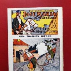 Tebeos: JOSE MARIA EL TEMPRANILLO Nº 8 EL GATO NEGRO 1920 ORIGINAL. Lote 189692840