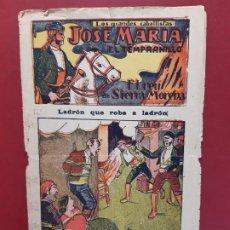 Tebeos: JOSE MARIA EL TEMPRANILLO Nº 18 EL GATO NEGRO 1920 ORIGINAL. Lote 189692936