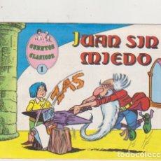 Tebeos: CUENTOS CLÁSICOS Nº 1. JUAN SIN MIEDO. VALENCIANA 1983. DIBUJOS DE LICERAS. Lote 189762687