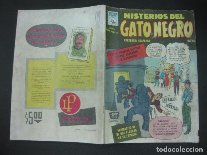 Tebeos: MISTERIOS DEL GATO NEGRO Nº 94. JULIO DE 1959. EDITORA DE PERIODICOS LA PRENSA MEXICO. - Foto 2 - 187163135