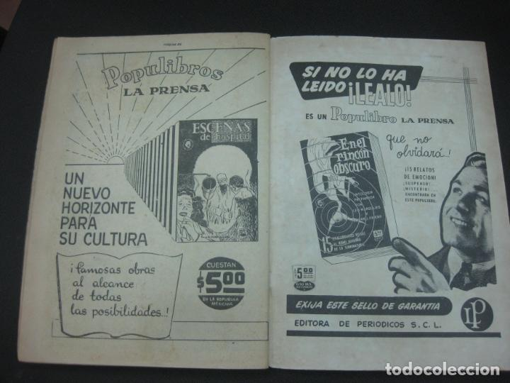 Tebeos: MISTERIOS DEL GATO NEGRO Nº 94. JULIO DE 1959. EDITORA DE PERIODICOS LA PRENSA MEXICO. - Foto 4 - 187163135