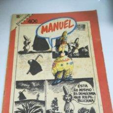 Tebeos: TEBEO. CUBA. MANUEL. HISTORIETAS. 1988. EDITORIAL PABLO DE LA TORRIENTE. Lote 190711735