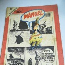 Tebeos: TEBEO. CUBA. MANUEL. HISTORIETAS. 1988. EDITORIAL PABLO DE LA TORRIENTE. Lote 190801593