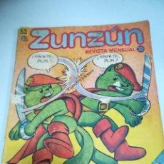 Tebeos: TEBEO. CUBA. ZUNZUN. Nº 53. REVISTA MENSUAL. 1986. Lote 190802112