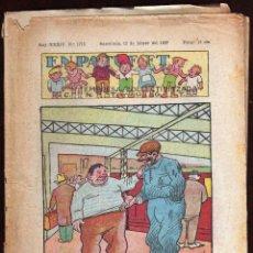 Tebeos: GIROEXLIBRIS. CÓMIC DE PATUFET GUERRA CIVIL.- AÑO XXXIV Nº 1713 DEL 12 DE FEBRERO DE 1937. Lote 192136025
