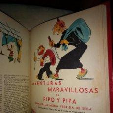Tebeos: AVENTURAS MARAVILLOSAS DE PIPO Y PIPA TOMO RETAPADO CON 8 TITULOS 152 PAGINAS ORIGINAL AÑOS 30. Lote 192282865