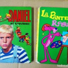 Tebeos: DOS LIBROS -LA PANTERA ROSA Y DANIEL EL TRAVIESO - EDICIONES LAIDA 1968.VER FOTOS LOMOS. Lote 192481438