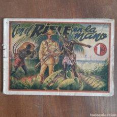 Tebeos: CON EL RIFLE EN LA MANO / GRANDES HISTORIAS PARA LA JUVENTUD / NUM. 6 / S.G.E.L AÑO 1943 / RARO. Lote 192492185