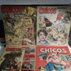 Tebeos: TEBEOS CHICOS 1954 NUMEROS 2, 3, 4 Y 5 EDITORIAL CID. Lote 192624250