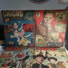 Tebeos: TEBEOS CHICOS EDITORIAL CID. 1954 NUMEROS 6,7,8 Y 9. Lote 192625398