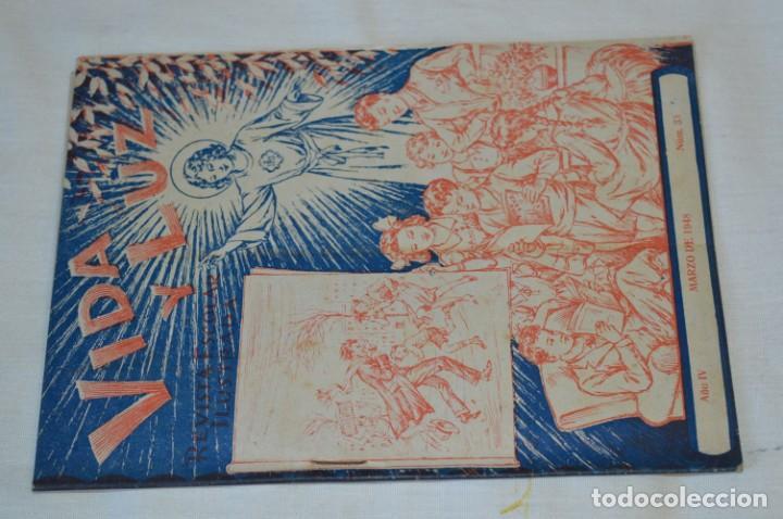 Tebeos: VIDA y LUZ / Revista Escolar Ilustrada / Época TERCERA - Números 01, 33, 34 y 35 - Años 45/48 ¡Mira! - Foto 3 - 192869835