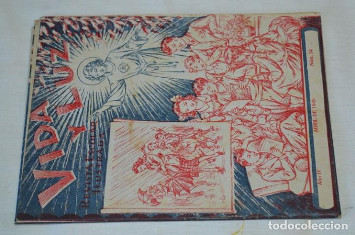 Tebeos: VIDA y LUZ / Revista Escolar Ilustrada / Época TERCERA - Números 01, 33, 34 y 35 - Años 45/48 ¡Mira! - Foto 4 - 192869835