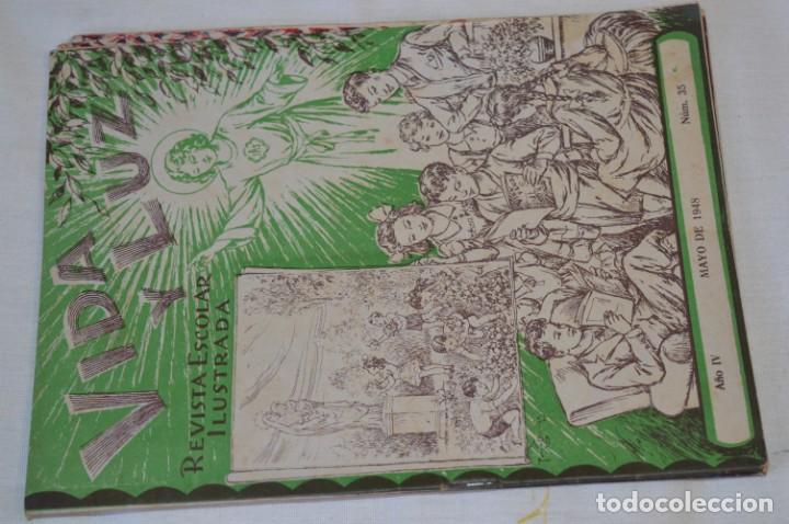 Tebeos: VIDA y LUZ / Revista Escolar Ilustrada / Época TERCERA - Números 01, 33, 34 y 35 - Años 45/48 ¡Mira! - Foto 6 - 192869835