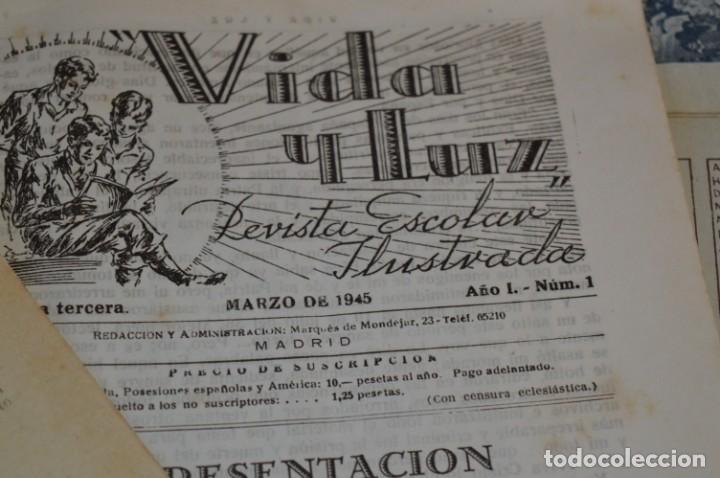 Tebeos: VIDA y LUZ / Revista Escolar Ilustrada / Época TERCERA - Números 01, 33, 34 y 35 - Años 45/48 ¡Mira! - Foto 8 - 192869835