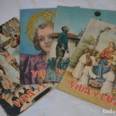 Tebeos: VIDA Y LUZ / REVISTA ESCOLAR ILUSTRADA / ÉPOCA TERCERA - NÚM 109, 112, 113 Y 115 - AÑOS 55/56 ¡MIRA!. Lote 192877033