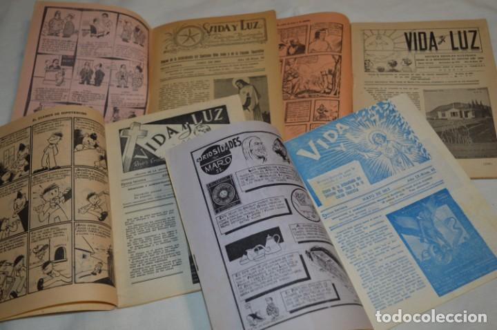 VIDA Y LUZ / REVISTA ESCOLAR ILUSTRADA / ÉPOCA TERCERA - NÚMEROS 84, 85, 86 Y 89 - AÑO 1.953 ¡MIRA! (Tebeos y Comics - Tebeos Otras Editoriales Clásicas)